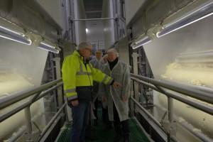 Beeindruckt von der neuen Flockenfabrik zeigten sich die Besucher aus ganz Niedersachsen.